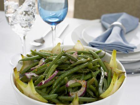 Grüne Bohnen mit Zwiebeln