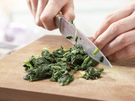 Grüne Gemüse-Pasta: Zubereitungsschritt 1