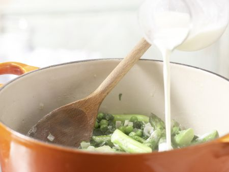 Grüne Gemüse-Pasta: Zubereitungsschritt 6