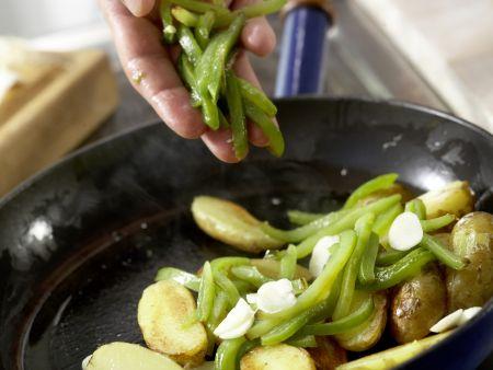Grüne Kartoffelpfanne: Zubereitungsschritt 10