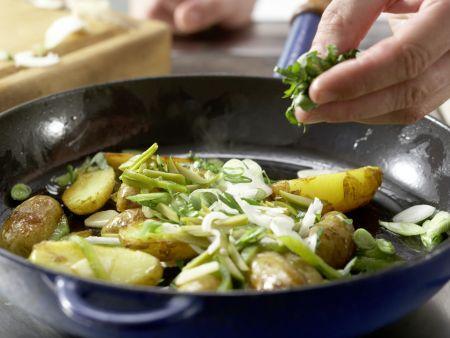 Grüne Kartoffelpfanne: Zubereitungsschritt 11