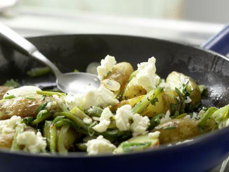 Grüne Kartoffelpfanne: Zubereitungsschritt 12