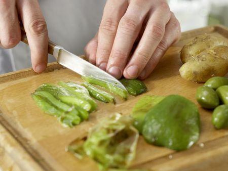 Grüne Kartoffelpfanne: Zubereitungsschritt 3