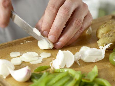 Grüne Kartoffelpfanne: Zubereitungsschritt 4