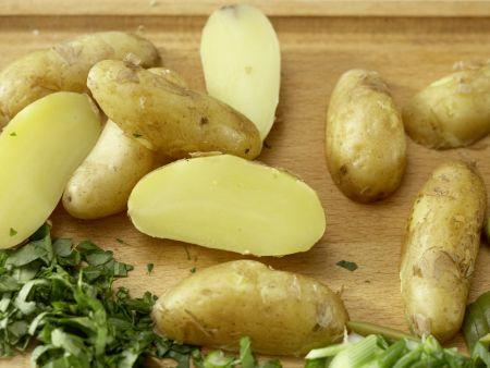 Grüne Kartoffelpfanne: Zubereitungsschritt 8