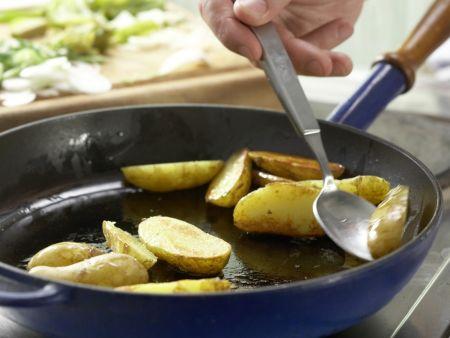 Grüne Kartoffelpfanne: Zubereitungsschritt 9