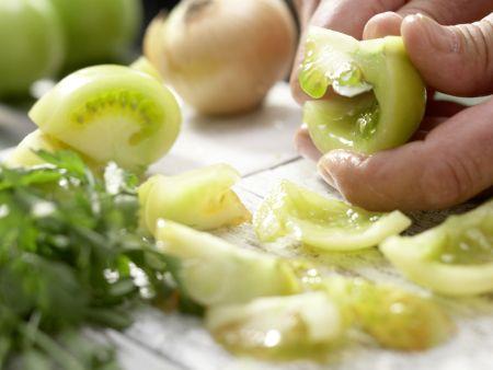 Grüne Tomaten-Salsa: Zubereitungsschritt 4