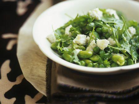 Grüner Bohnen-Erbsensalat