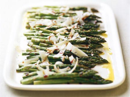 Rezept: Grüner Spargel aus dem Ofen