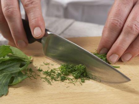 Grünes Gurkengemüse: Zubereitungsschritt 8