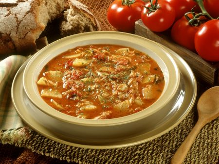 Gulasch-Kabeljau-Suppe