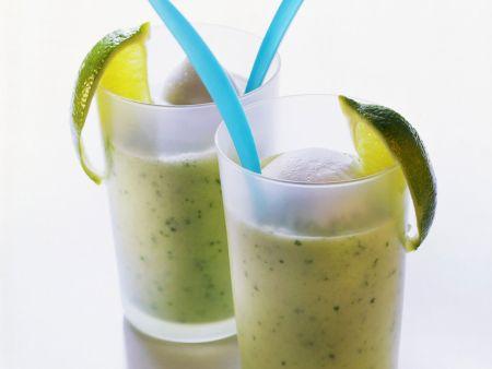 Gurken-Drink mit Joghurt