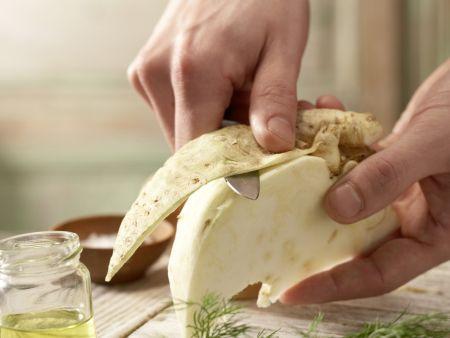 Gurken-Fisch-Ragout: Zubereitungsschritt 1