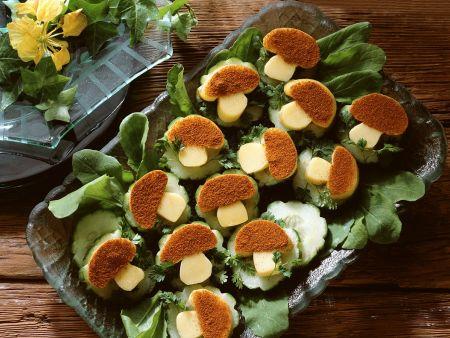 Gurken-Käsehäppchen