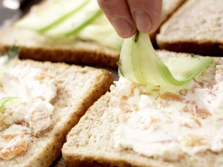 Gurken-Sandwiches: Zubereitungsschritt 7