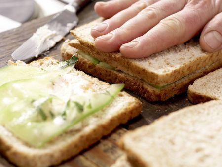Gurken-Sandwiches: Zubereitungsschritt 8