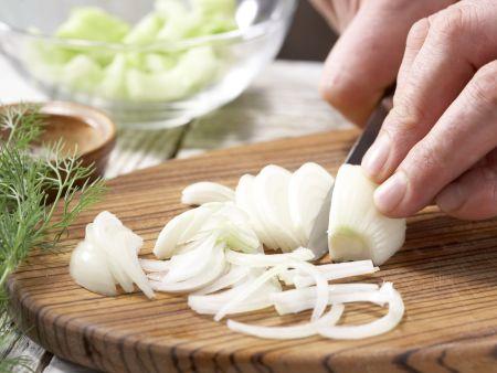 Gurkengemüse mit Schinken: Zubereitungsschritt 3