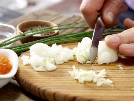 Hackfleisch-Linsen-Bällchen: Zubereitungsschritt 1