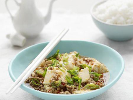 Hackfleisch mit Tofu