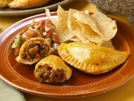 Hackfleisch-Taschen nach mexikanischer Art (Empanadas)