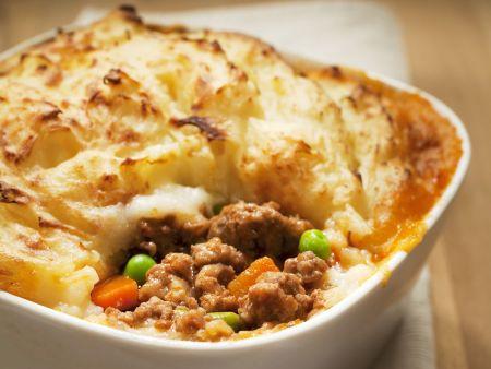 Rezept: Hackfleischauflauf mit Kartoffelhaube (Shepherd's Pie)