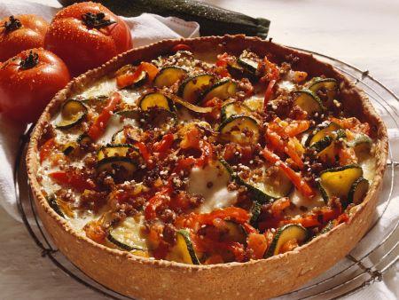Hackfleischkuchen mit Gemüse