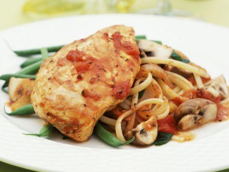 Rezept: Hähnchen Cacciatore mit Linguini