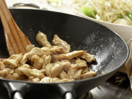 Hähnchen auf chinesische Art: Zubereitungsschritt 7
