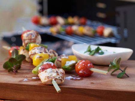 Rezept: Hähnchen-Gemüse-Spieße