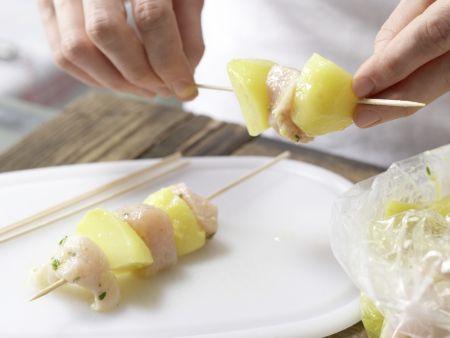Hähnchen-Kartoffel-Spieße: Zubereitungsschritt 6