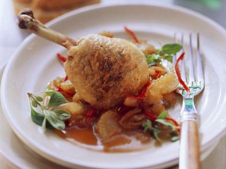 Hähnchen mit Fenchelgemüse