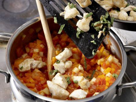 Hähnchen-Pasta: Zubereitungsschritt 8