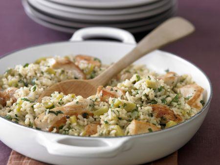 Hähnchen-Reispfanne