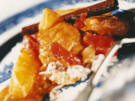Hähnchen-Tomaten-Topf aus Südafrika