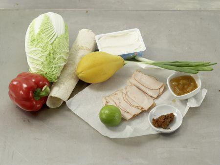 Hähnchen im Tortillamantel: Zubereitungsschritt 1