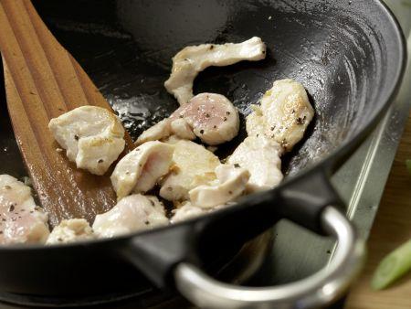 Hähnchen aus dem Wok: Zubereitungsschritt 7