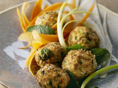 Hähnchenbällchen mit Gemüse
