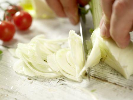 Hähnchenbrust in der Folie gegart: Zubereitungsschritt 1