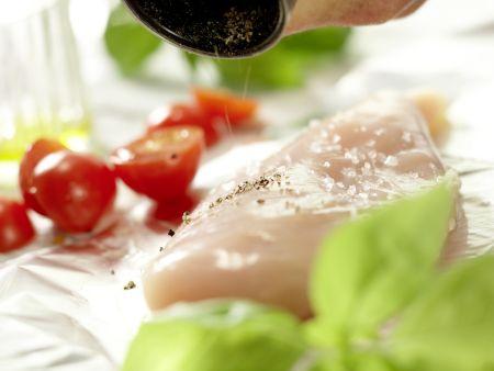 Hähnchenbrust in der Folie gegart: Zubereitungsschritt 6