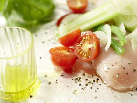 Hähnchenbrust in der Folie gegart: Zubereitungsschritt 7