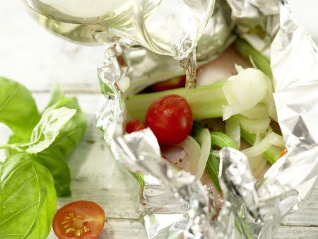Hähnchenbrust in der Folie gegart: Zubereitungsschritt 8