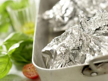 Hähnchenbrust in der Folie gegart: Zubereitungsschritt 9