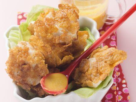 Rezept: Hähnchenbrust mit Cornflakes-Panade