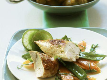 Rezept: Hähnchenbrust mit Kartoffeln und Limettenbutter