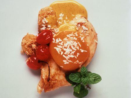 Hähnchenbrust mit süß-pikanter Currysoße