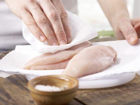 Hähnchenbrust mit Spargel: Zubereitungsschritt 1