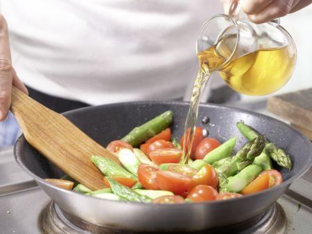 Hähnchenbrust mit Spargel: Zubereitungsschritt 6