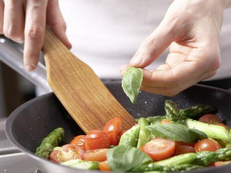 Hähnchenbrust mit Spargel: Zubereitungsschritt 8