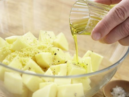 Hähnchenbrustfilet mit Olivenkruste: Zubereitungsschritt 6