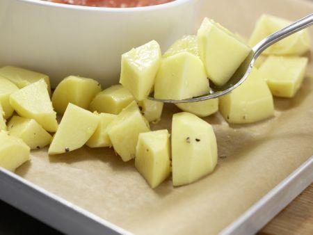 Hähnchenbrustfilet mit Olivenkruste: Zubereitungsschritt 7